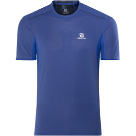 Salomon Trail Runner SS Shirt Men Surf The Web/Dress Blue